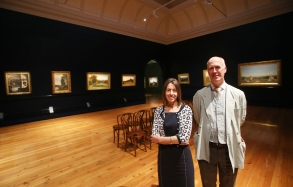 Me with Tansy Curtin, the exhibition curator.