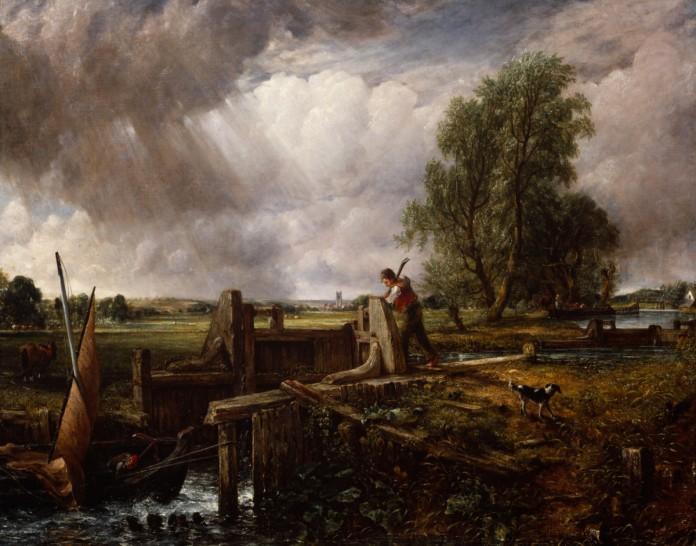 John Constable RA A Boat Passing a Lock 1826