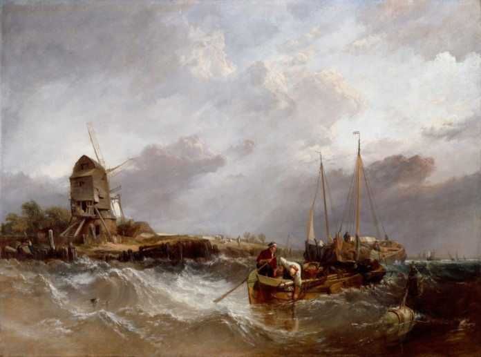 Clarkson Stanfield RA On the Scheldt near Leiskenshoeck: a Squally Day 1837