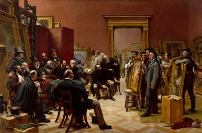 Charles West Cope RA The Council of the Royal Academy selecting Pictures for the Exhibition, 1875 1876
