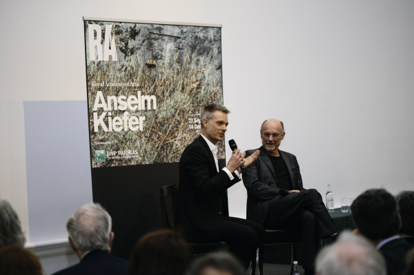 Tim Marlow and Anselm Kiefer in conversation at the Royal Academy.